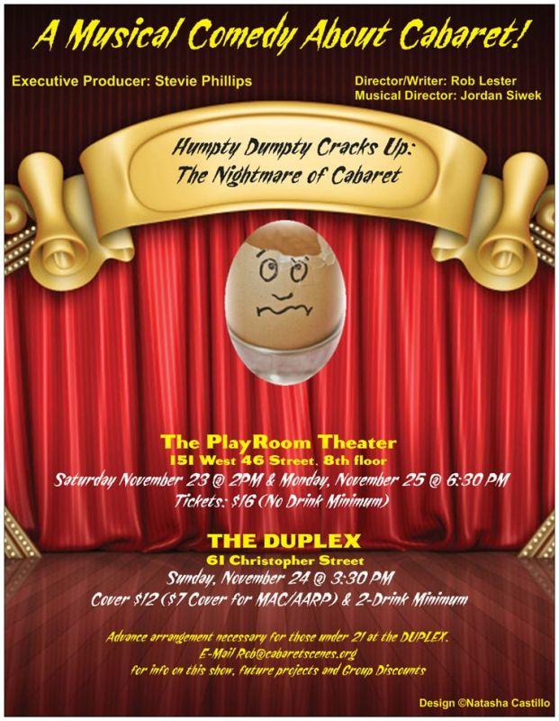 Humpty Dumpty Cracks Up: Cabaret Nightmare (Benefit)