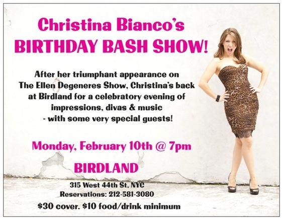 Christina Bianco is Celebrating with a Birthday Bash at Birdland!