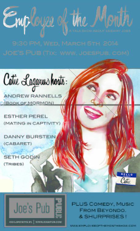 "Catie Lazarus' ""Employee of the Month"" – Joe's Pub"