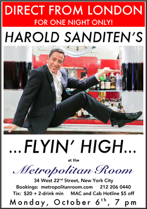 Harold Sanditen Will Soon Be Flyin' High at the Metropolitan Room