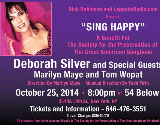 Marilyn Maye & Tom Wopat Join Deborah Silver to 'Sing Happy'-54 Below