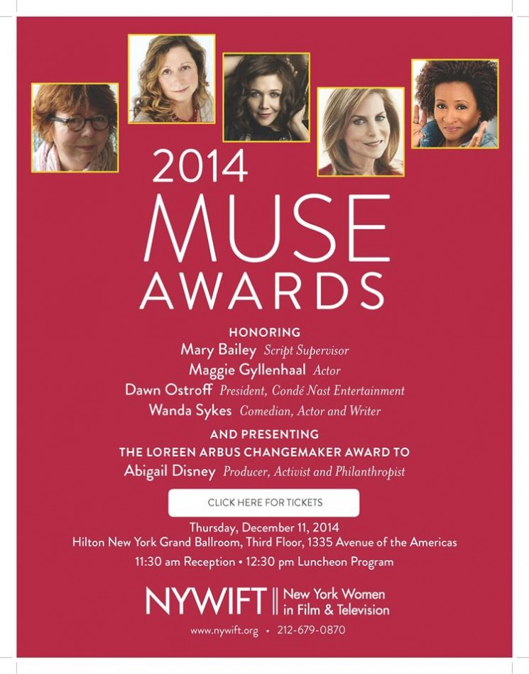 The Muse Awards to Honor Maggie Gyllenhaal, Wanda Sykes