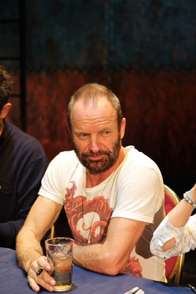 Sting & Cast of The Last Ship Sign CDs at Neil Simon Theatre