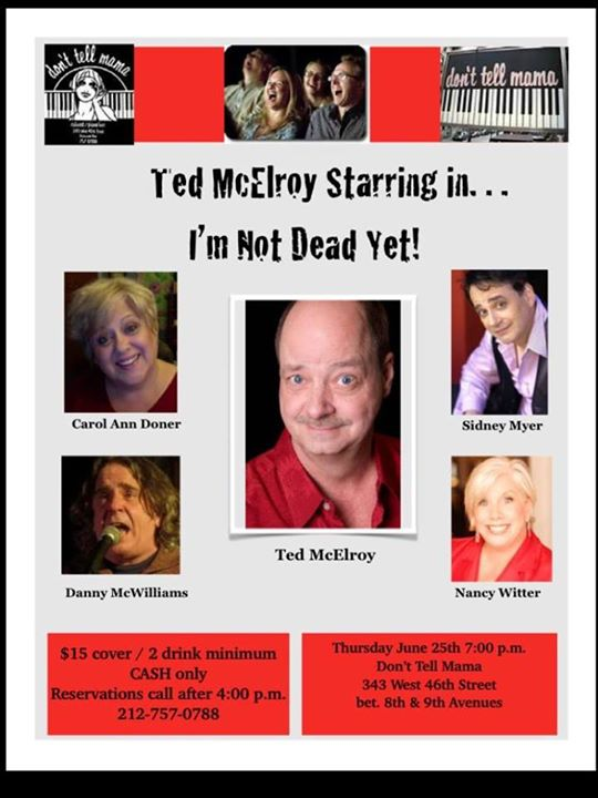 "A Very Gay Reunion: Ted McElroy's ""I'm Not Dead Yet!"" Comedy Tour"