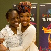 Brandy Norwood Mentors at MSG's Garden of Dreams