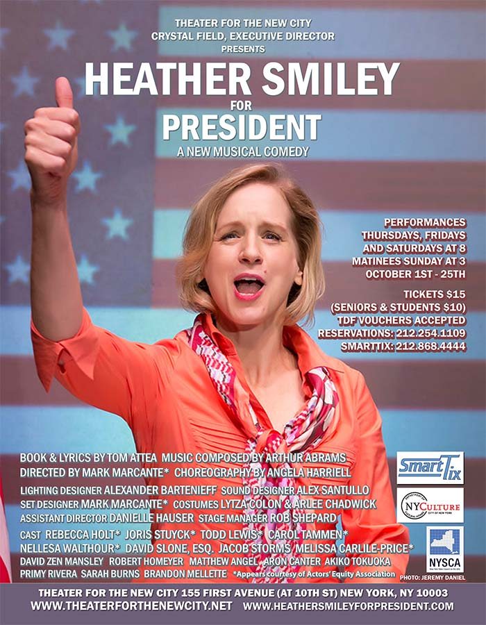 Heather Smiley for President Set to Open October 11th