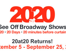 20at20 Starts Today! See an Off Broadway Show for $20