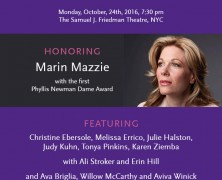 Nothing Like A Dame to Honor Marin Mazzie
