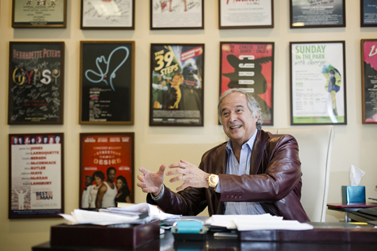 Six-time Tony Award winning Broadway producer Stewart F. Lane talks about his work in his office of Stewart F. Lane Productions, Inc. and Stellar Productions International, Inc. in Midtown, New York City on March 10, 2015. (Samira Bouaou/Epoch Times)