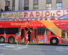 Radio City Rockettes Stop Traffic on Sixth Ave