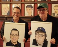 Michael Moore & Michael Mayer on Sardi's Legendary Walls